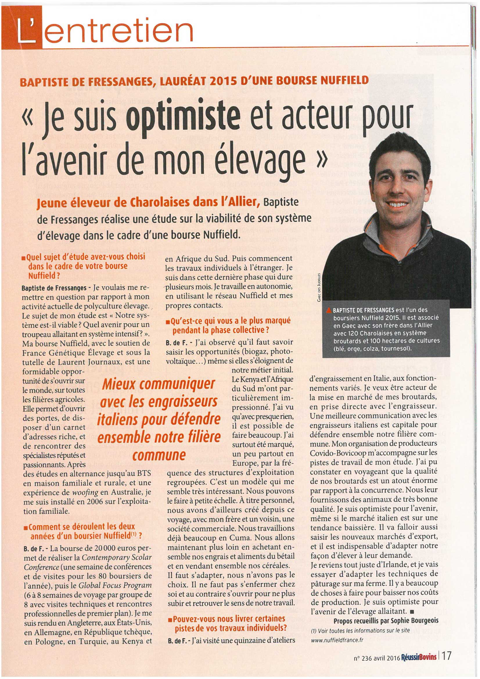 article-baptiste-de-fressanges-journal-elevage